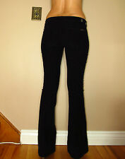 Seven 7 For All Mankind Jiselle Flare Mid-Rise Corduroy Black Pants Cords 30 NWT