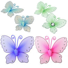 2X Backs Clip on Hold Butterfly Metal Home Window Curtain Tie Tieback Holder