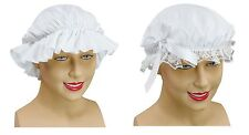 #LADIES VICTORIAN MAID CAP & MOB HAT EDWARDIAN FANCY DRESS ACCESSORY ONE SIZE