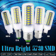 Ultra Bright 5730 SMD LED Corn Lamp Light Bulb White 110V 220V 7 9 12 15 20 25W