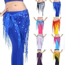 Belly Dance Tribal Hip Triangle Scarf Sparkly Sequins Shawl Dancing Costume GTS