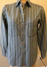 Levi's Jeans For Women Long Sleeve Button Up Stripe Shirt *Size M