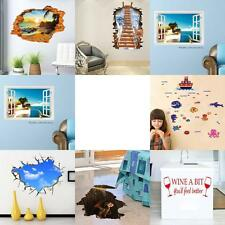 DIY Home Room Wall Stickers Removable Vinyl PVC Art Wallpaper Decal Decor Mural