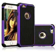 """Heavy Duty Tough Armor Dual Layer Purple Case Cover For iPhone 6/6s PLUS (5.5"""")"""