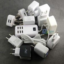 Pro USB Ports Wall Home Travel Powered Supply Adapter AC Charger EU US UK Plug