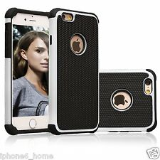 Heavy Duty Tough Armor Dual Layer (2 in 1) White Case Cover For iPhone 6/6s