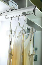 Soft Close Pull Out Clothes Hanger Extending Rail / Wardrobe Storage Organiser