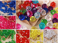 12mm 100pcs DIY Wholesale Beads Crystal Faceted Abacus Loose Bicone Beads Crafts