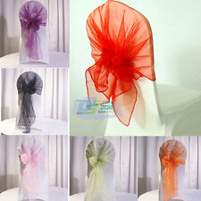 Fashion Colors Organza Chair Sashes Bow Cover Wedding Party Banquet Decoration