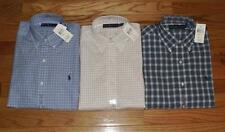 NEW NWT Polo Ralph Lauren Mens Long Sleeve Button Down Plaid Dress Shirt Pony