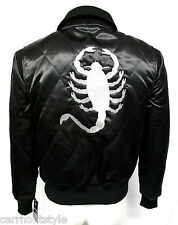 DRIVE RYAN GOSLING SILVER SCORPION MENS FILM,MOVIE STAR BLACK SATIN JACKET