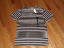 NEW NWT Mens Banana Republic Tee T-Shirt Purple/Grey Stripe Fitted Crew *1A
