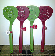 1 Genmert Holiday/Christmas Stencil Nylon Spatula Choice: Red/Green Snowman/Tree