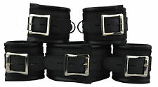 5 X Restraints Set Real Leather,Bondage padded,Fesselset,Wrist+Ankle+Neck