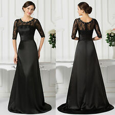 Mermaid Vintage LACE Applique Bridesmaid Evening Party Gowns Prom Wedding Dress