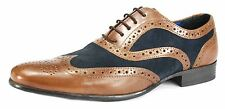 Red Tape Carn Two Tone Mens Leather Suede Brogues Lace Up  Shoes Tan / Navy
