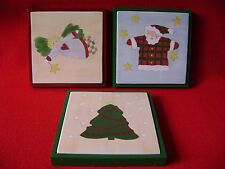 "Christmas Ceramic Tile Hot Dish Trivet Holder by Mikasa ""Merry Seasons"""