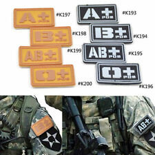 Military Blood Type O+ A+ B+ AB+ Tactical Army PVC Patch Badge DIY Sewing 1 Pc
