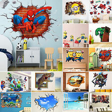 Removable 3D Stickers DIY Vinyl Wall Stickers Mural Decal Kids Nursey Room Decor