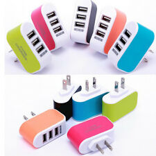 Fashion Triple USB Port Wall Home Travel AC Power Charger Adapter Hot Sale