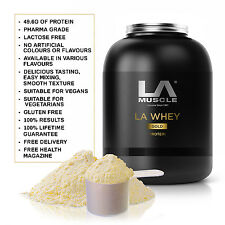 LA Muscle LA Whey Gold 2.2kg: 100% Pure Quality Whey Protein