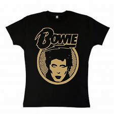 "David Bowie ""Face"" Girls T-Shirt, Glam Rock, Ziggy Vintage - All Sizes & Colours"