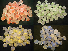 10 x 14mm Frosted rainbow Glass Marbles Collectors or game solitair pick color