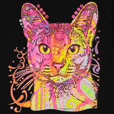 Kids Abyssinian Cat Neon T-Shirt Unisex Children to Adult Cute Youth Junior boys