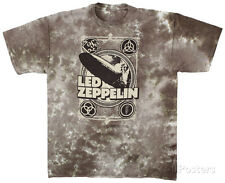 Led Zeppelin - Zeppelin Poster T-Shirt Tie Dye Licensed Mens Shirt New