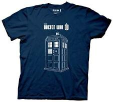Doctor Who - Linear Tardis T-Shirt Blue New Shirt Tee
