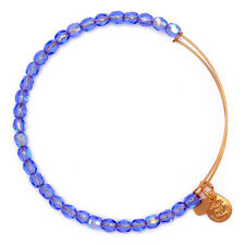 ALEX AND ANI Blue Beaded Expandable Wire Bangle