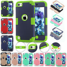 Shockproof Hybrid Hard Rubber Gel Silicone Case Cover For iPod Touch 5th 6th Gen