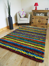 MULTI COLOUR FUNKY BRIGHT MODERN THICK SOFT HEAVY QUALITY SHAGGY AREA RUGS MATS