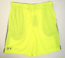 Under Armour Heatgear High Vis Yellow Loose Fit Athletic Shorts Shorts Mens NWT