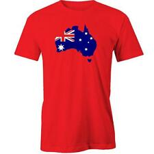 Australia Flag Map T-Shirt Day Aussie Australian Tee New