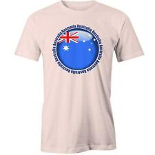 Australia Circle Flag T-Shirt Day Aussie Australian Proud Aus Tee New