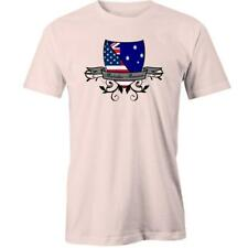 Australian-American Shield Flag T-Shirt Australia Day Aussie USA Relations Tee N