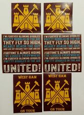 West Ham Sticker Set - West Ham United Football Sticker Set (20) WHUFC Hammers