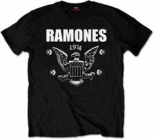 RAMONES 1974 EAGLE CREST PRESIDENTIAL SEAL LOGO T-Shirt Authentic & Official