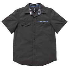 BNWT BOYS SIZE 10 PIPING HOT CHARCOAL COLLARED SHIRT ~ NEW
