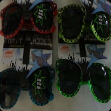 glow in the dark party costume glasses sunglasses pink blue green yellow checker