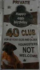 novelty birthday gift 18th 21st 40th party decoration door hanger sign hangover