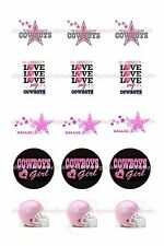 "DALLAS COWBOYS PINK 1"" CIRCLES  BOTTLE CAP IMAGES. $1.95-$4.50"