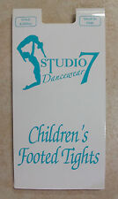 Studio 7 Childrens Full Footed Dance Tights BNWT Ballet Pink & Tan Various Sizes