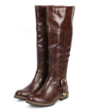 New Women Nature Breeze Kimo-02 Leatherette Buckle Knee High Riding Boot Size