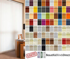 """Complete Vertical Blinds FROM £7..Made to Measure 3.5"""" Slats/Louvres 74 Colours"""