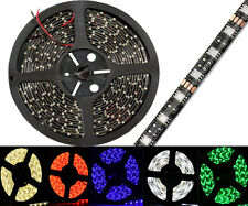 3528 /5050 SMD Waterproof 5M 300 LED Strip Light Black PCB Red/Blue/Green/White