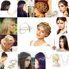 Head Chain Lady Exquisite Metal Rhinestone Jewelry Headband Head Piece Hair Band