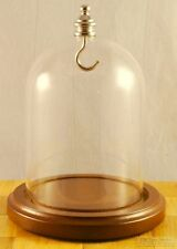 Glass dome (small) with a top pocket watch hook, in various base finishes