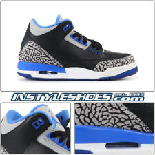 Nike Air Jordan 3 III Retro GS Black Sport Blue 398614-007 Grade School